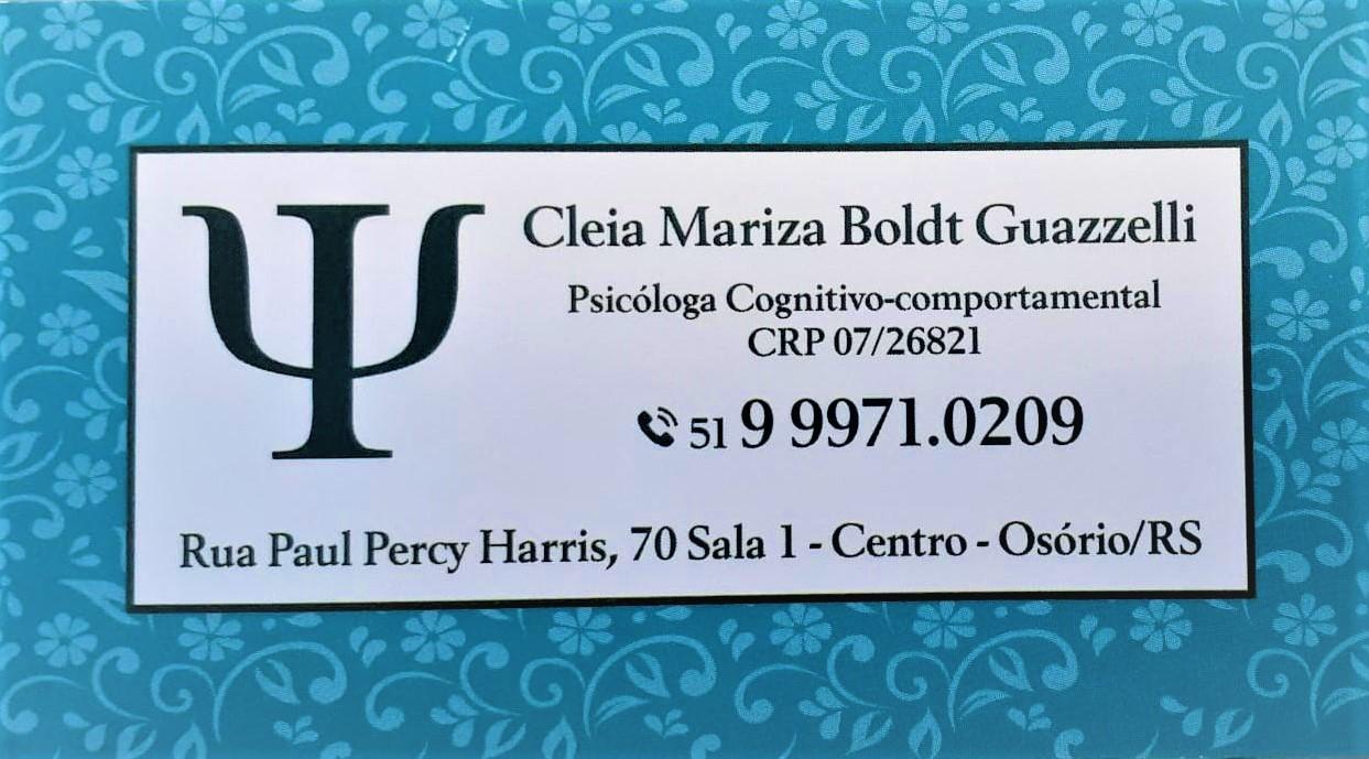 Psicóloga Cléia Boldt Guazzelli