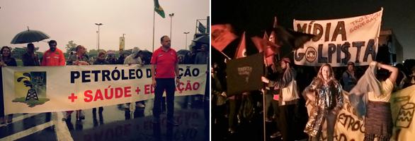 Trabalhadores e MST trancam rodovias no RS em defesa da democracia