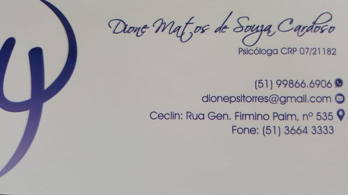 Psicóloga Dione Matos de Souza Cardoso
