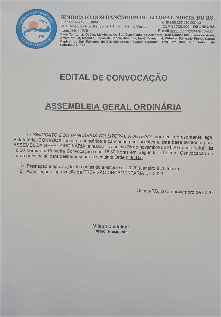EDITAL DE CONVOCAÇÃO