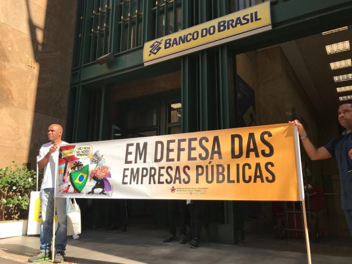 Bancários participam do Dia Nacional de Luta em Defesa das Empresas Públicas e da Soberania Nacional