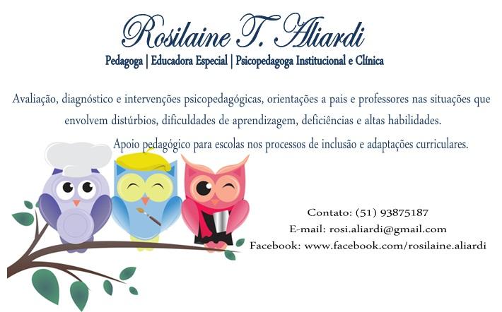 Pedagoga Rosilaine Aliardi
