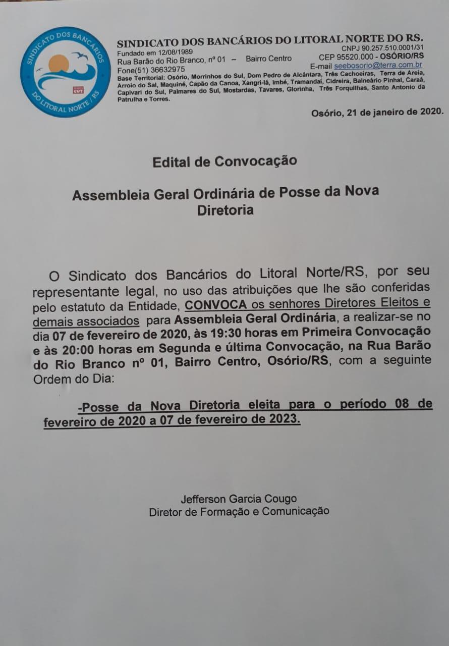 Posse Diretoria Triênio 2020/2023