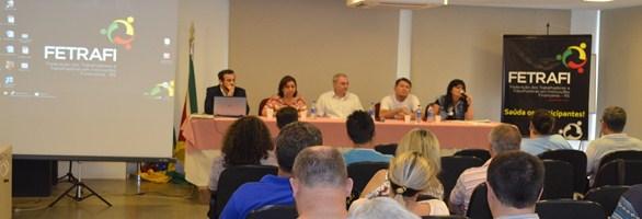 Sistema Diretivo da Fetrafi-RS debate combate à discriminação e outros assuntos