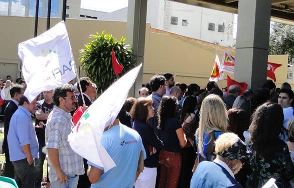 CUT-RS defende CLT e Justiça do Trabalho em ato do TRT-RS em Porto Alegre