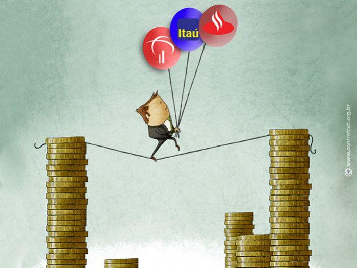 Lucro dos três maiores bancos privados do país chega a R$ 44 bi