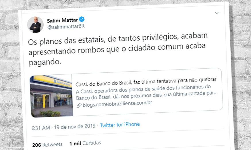 Secretário de Privatização ataca Cassi