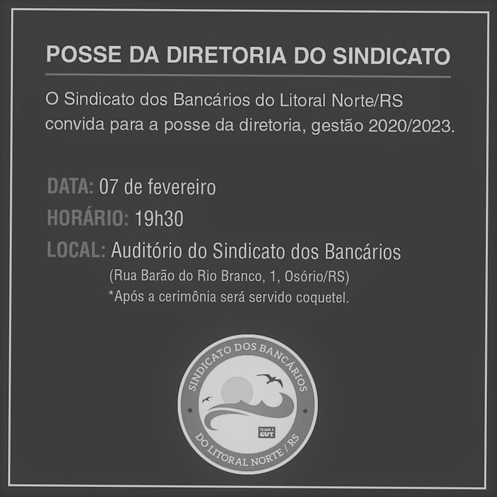 Informativo: Posse Diretoria Triênio 2020/2023
