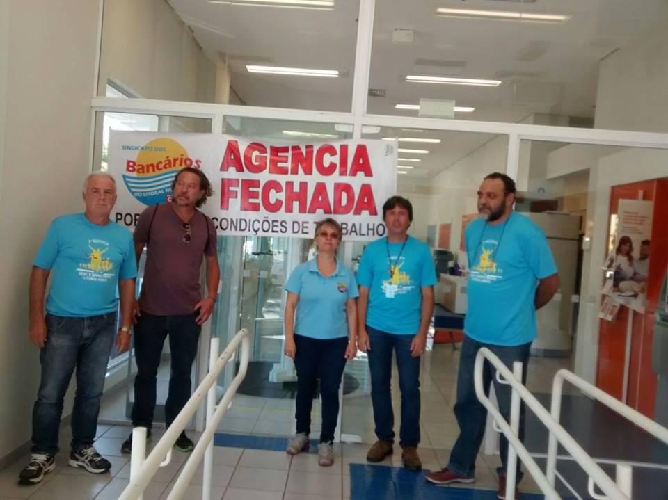 Sindicato fecha Agência do Itaú de Osório