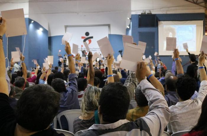 Bancários debatem resistência e defesa dos direitos da classe trabalhadora