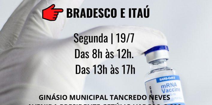 Alvorada começa a vacinar bancários(as) de Itaú e Bradesco